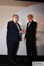 Rich Orcutt (Iovation) receiving the Best New Technology Award in Miami at the 2010 Internet Dating Industry Awards