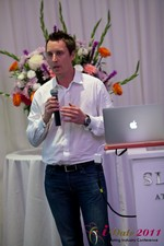 Chas McFeely (CEO of HuookChasUp.com) at the 2011 California Online Dating Summit and Convention