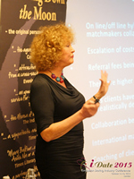 Mary Balfour CEO And Managing Director Of Drawing Down The Moon  at the 2015 London Euro Mobile and Internet Dating Expo and Convention
